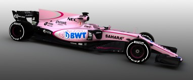 The Sahara Force India F1 VJM10. Sahara Force India F1 VJM10 Livery Reveal, Tuesday 14th March 2017.
