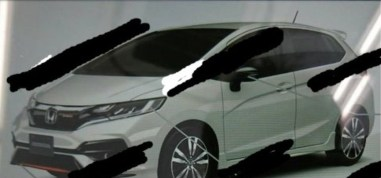 Honda Jazz facelift leaked Japan 2