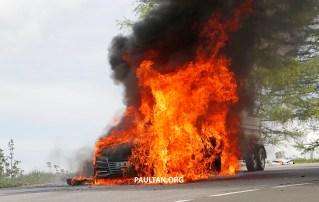 Audi A7 test mule fire 10