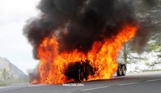 Audi A7 test mule fire 11