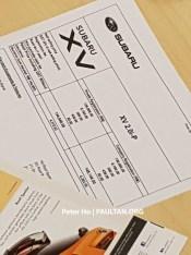 New Subaru XV price list