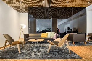 The Volvo Retail Experience -- a warm and inviting interior