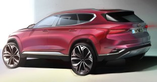 Hyundai Santa Fe fourth generation render 2