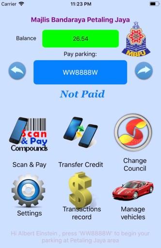 Selangor Smart Parking App on iOS-1