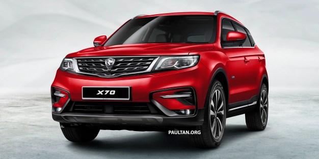 Proton X70 SUV 1 - Red