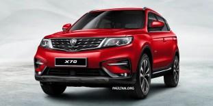 Proton X70 SUV 1 - Red_BM