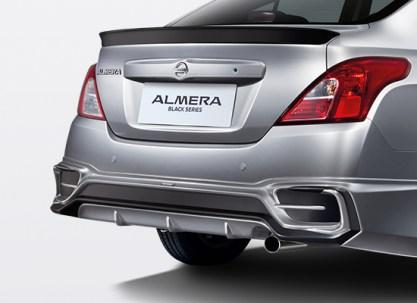 05 New Almera Black Series_TOMEI Rear Bumper Spoiler with Dark Titanium Accent & Gloss Black Trunk Lid Spoiler_BM