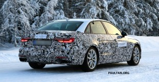 2019 Audi A4 Sedan facelift winter test spyshot_10