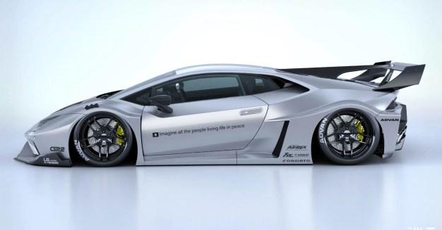 Lamborghini Huracan Liberty Walk Works GT kit 4
