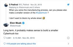 Tesla Cybertruck Elon Musk Tweet