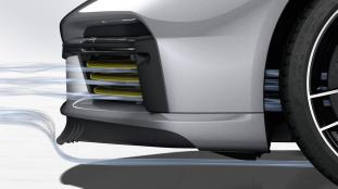 Porsche 911 Active Aero Lip and Flaps Open_1