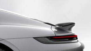 Porsche 911 Turbo S rear wing retracted