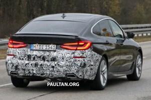 G32 BMW 6 Series Gran Turismo LCI facelift spyshot 7