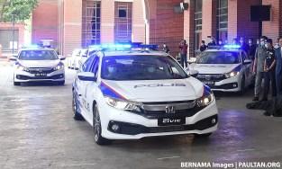 Honda Civic PDRM polis car Bernama 1