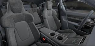 2021 Porsche Taycan textile interior, Graphite Blue Slate Grey-2