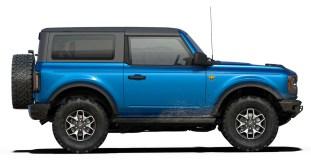 2021 Bronco Two-Door Badlands in Velocity Blue