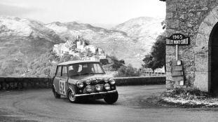 Mini Cooper at the Monte Carlo Rally