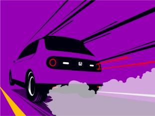 Honda e Drag Car