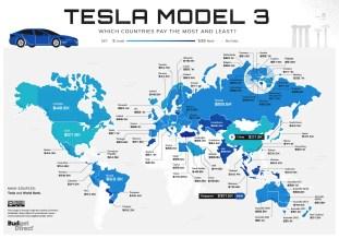 Tesla Worldwide Index Model 3