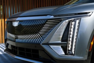 The distinctive black crystal grille is one of the LYRIQ's mos