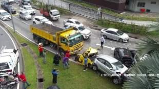 Jalan Ipoh Lorry Myvi Accident 1