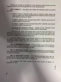 Philippines Exhaust Ordinance 2021-4