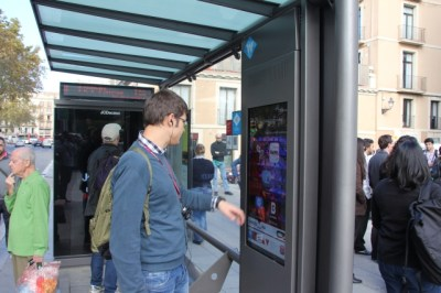 Digital bus stop