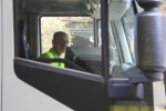 Single person operation of the connected garbage truck