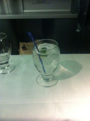united-airlines-business-class-gin-and-tonic