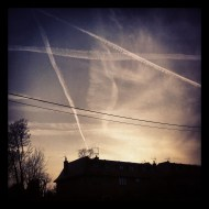 Flight paths, Instagram photo