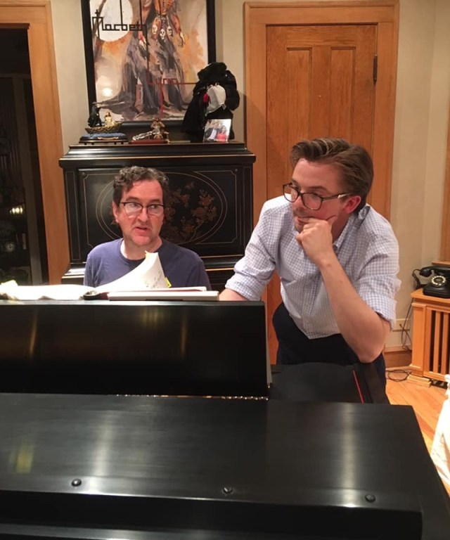 Paul Working on a piece at piano with tenor Christian Ketter