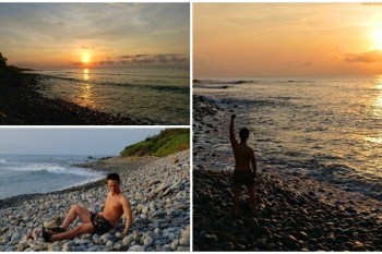 台東海線景點 八嗡嗡海岸 秘境礫石海灘看日出~感受台灣東海岸的寧靜曙光