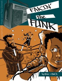 """Cover of the """"Fakin' the Funk"""" graphic novel written and illustrated by Paul Ziomek with Peter Ziomek"""