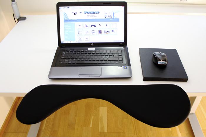Ergonomically correct computer arm rest with ergonomic