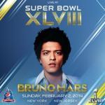 Bruno Mars actuará en el intermedio de la Super Bowl de 2014