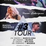 Ricky Merino, Nerea Rodríguez y Raoul Vázquez se van juntos de gira