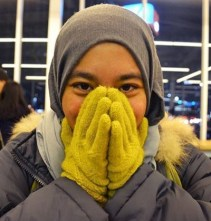 it was so cold we had red cheeks