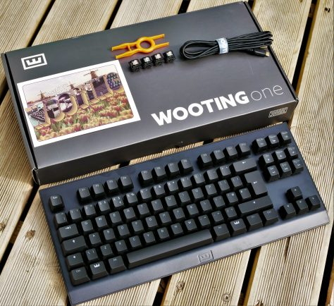 boite wooting one ouverte avec clavier