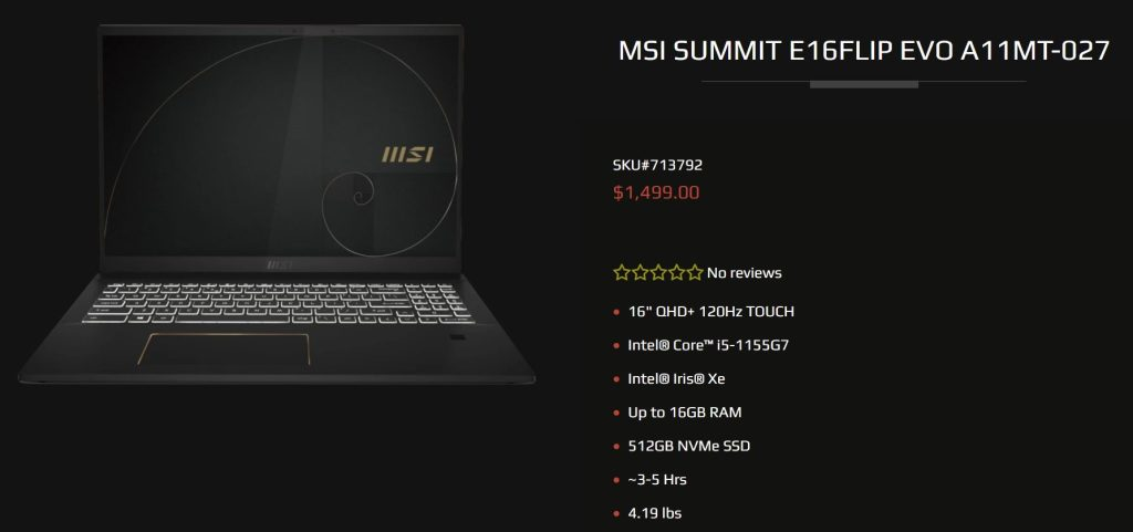 MSI-Summit-i5-1155g7