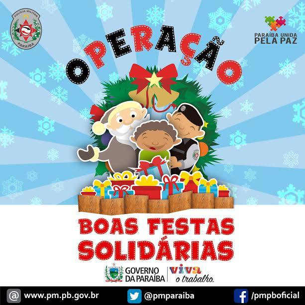 Polícia Militar lança Operação Boas Festas Solidárias para arrecadar alimentos