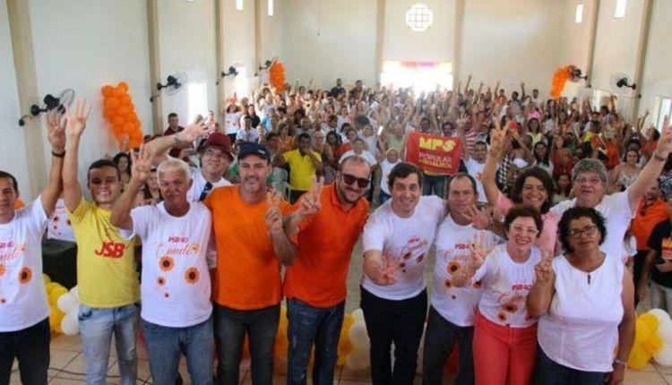Ao lado de João Azevedo, Gervásio participa de evento do PSB na cidade de Conde