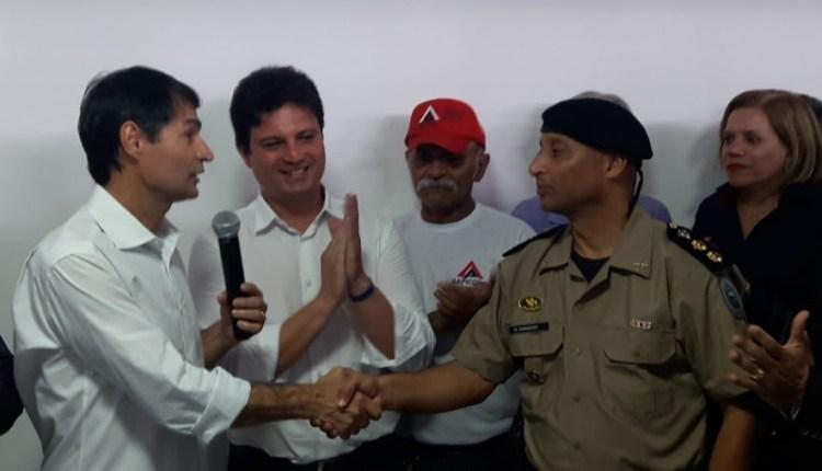 Romero entrega Base da PM no Terminal de Integração, e cidade recebe oito novos ônibus de transporte coletivo