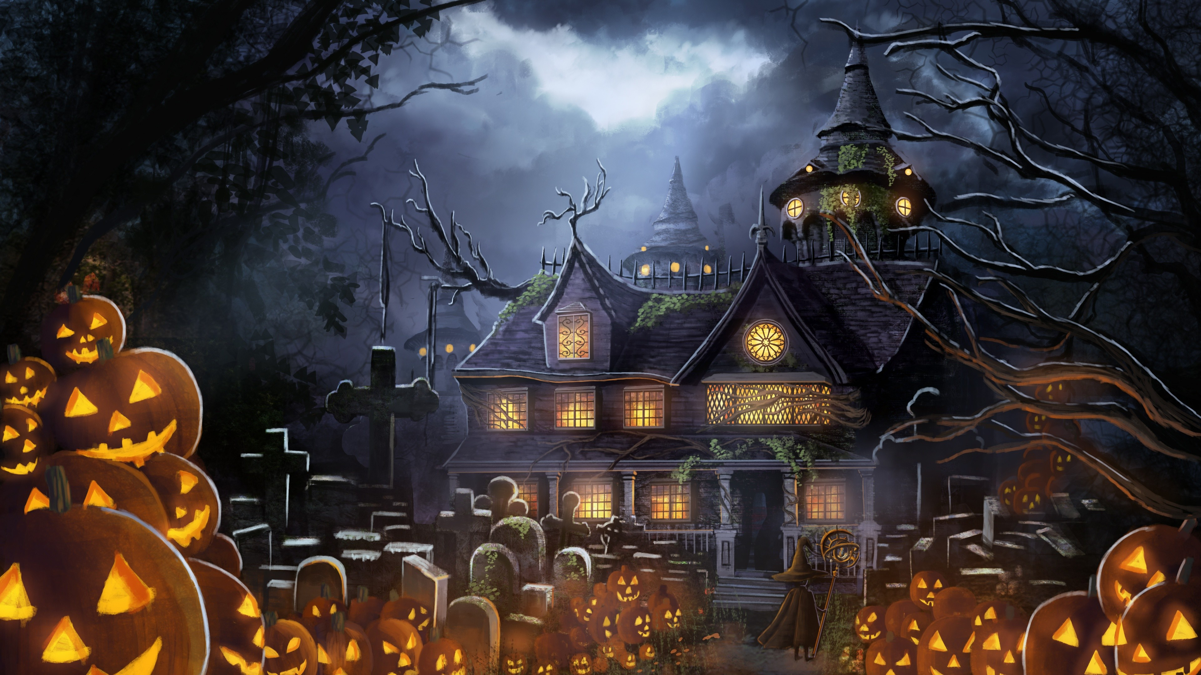 Fall Graveyard Cemetery Wallpaper Halloween Pc Wallpapers 67 Background Pictures