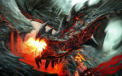 mythical fire creatures dragons wallpapers background