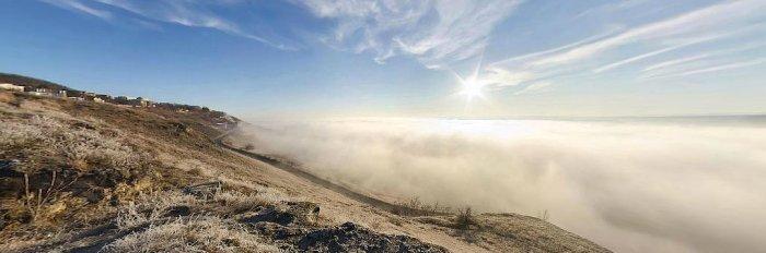 Панорама на горе Горячей