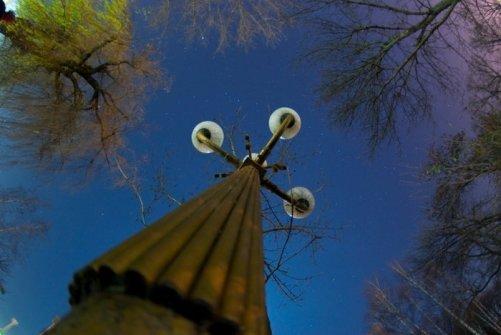 Фонарь в парке Кирова