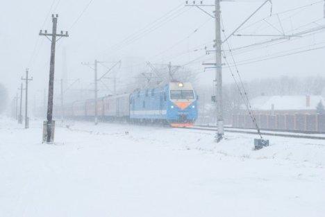 Поезд на ул. Железнодорожной в Пятигорске