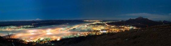 Ночной Пятигорск - панорама