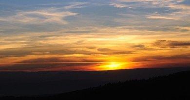 Фотографии заката на Бештау