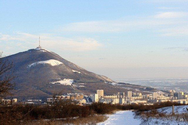 Пятигорск, вид с дорога на Бештау